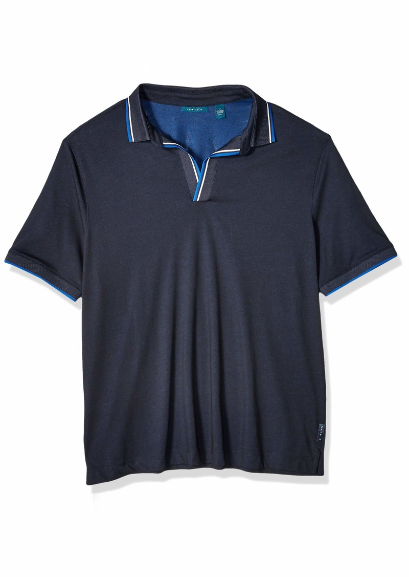 Perry Ellis Men's Big and Tall Open Collar Short Sleeve Polo Shirt