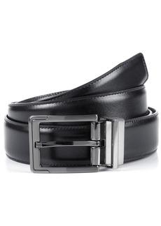 Perry Ellis Portfolio Men's Big and Tall Reversible Leather Dress Belt