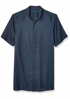 Perry Ellis Men's Big and Tall Solid Cottn Modal Short Sleeve Shirt  5X Large