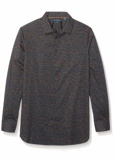 Perry Ellis Men's Big Multi-Color Speckle Print Stretch Shirt Partridge-4EMW4645 4X Large Tall