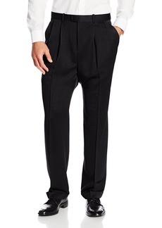 Perry Ellis Men's Big-Tall Portfolio Double Pleated Micro Melange Pant  42x36