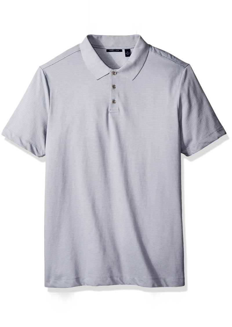 Perry Ellis Men's Big-Tall Two Button Birdseye Texture Polo