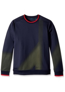 Perry Ellis Men's Brushed Multicolor Crew Sweater