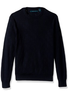 Perry Ellis Men's Cable Crew Pullover Sweater  Extra Extra Large