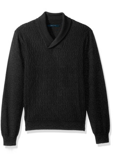 Perry Ellis Men's Cable Shawl Pullover Sweater  Extra Large