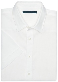 Perry Ellis Men's Chambray Linen Short-Sleeve Button-Front Shirt