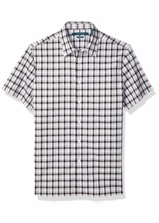 Perry Ellis Men's Check Stretch Short Sleeve Shirt