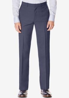 Perry Ellis Portfolio Men's Classic-Fit No Iron Performance Nailhead Dress Pants