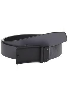 Perry Ellis Men's Coated Plaque Belt