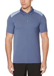 Perry Ellis Men's Color Block Jacquard Polo Coastal F jord