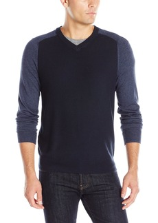 Perry Ellis Men's Color Block V-Neck Sweater  XXL