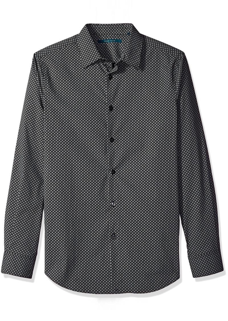 Perry Ellis Men's Diagonal Geo Shirt