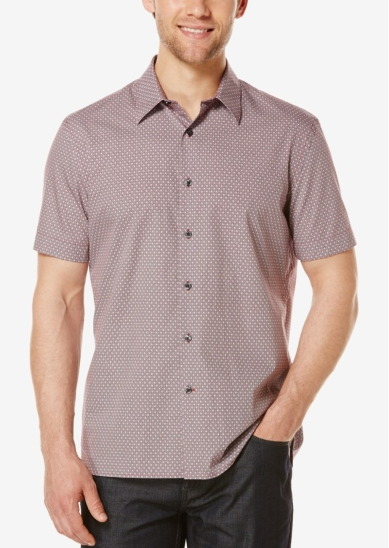 Perry Ellis Men's Diamond Print Short-Sleeve Shirt
