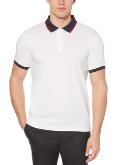 Perry Ellis Men's Dipped Collar Pima Cotton Polo