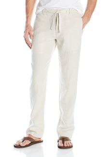 Perry Ellis Men's Drawstring Linen Pant Natural Linen 40