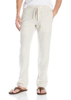 Perry Ellis Men's Drawstring Linen Pant Natural Linen 32