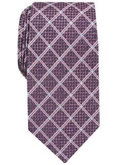Perry Ellis Men's Edale Grid Silk Tie