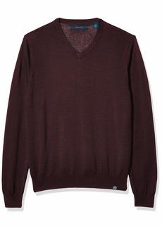 Perry Ellis Men's End Feeder Stripe Long Sleeve Sweater  XX Large