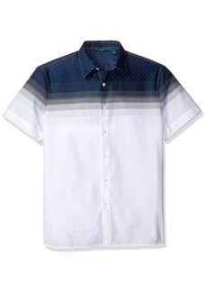 Perry Ellis Men's Engineered Dot Shirt  M