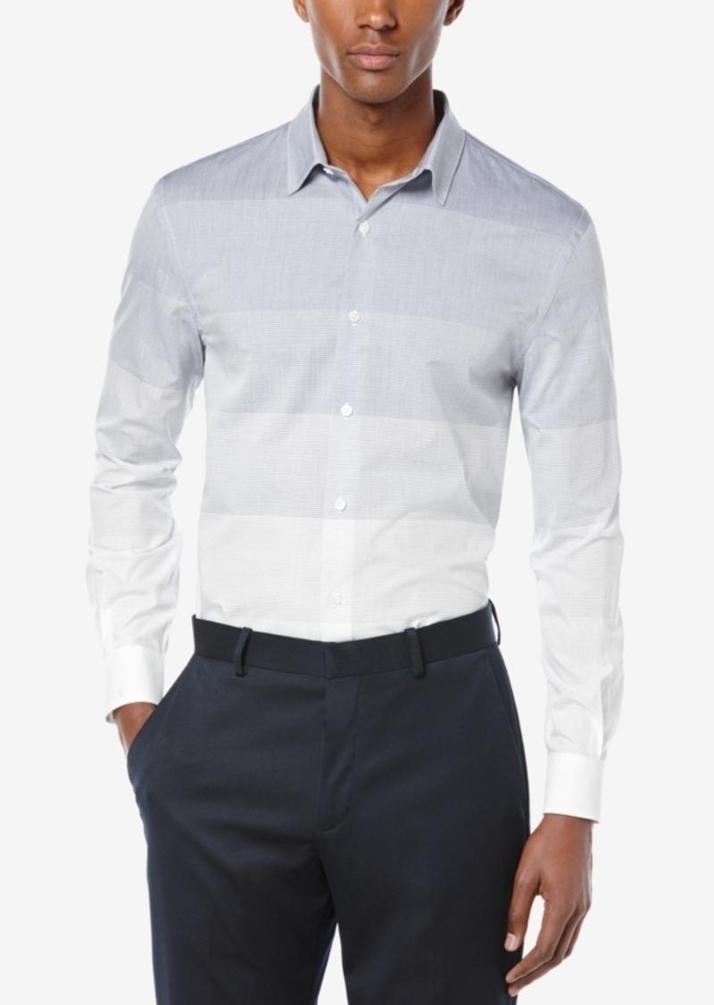 Perry Ellis Men's Engineered Ombre Stripe Long-Sleeve Shirt