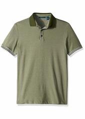 Perry Ellis Men's Short Sleeve Solid Linen Shirt Kombu Green-4ESK7103 Extra Extra Large