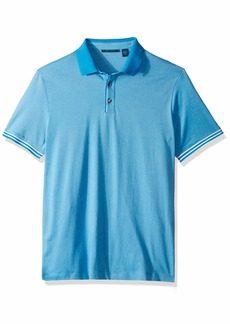 Perry Ellis Men's Essential End Polo Mediterranean Blue-4ESK7103