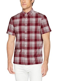 Perry Ellis Men's Essential Plaid Pattern Shirt