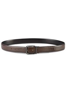 Perry Ellis Men's Feather-Edge Reversible Leather Belt
