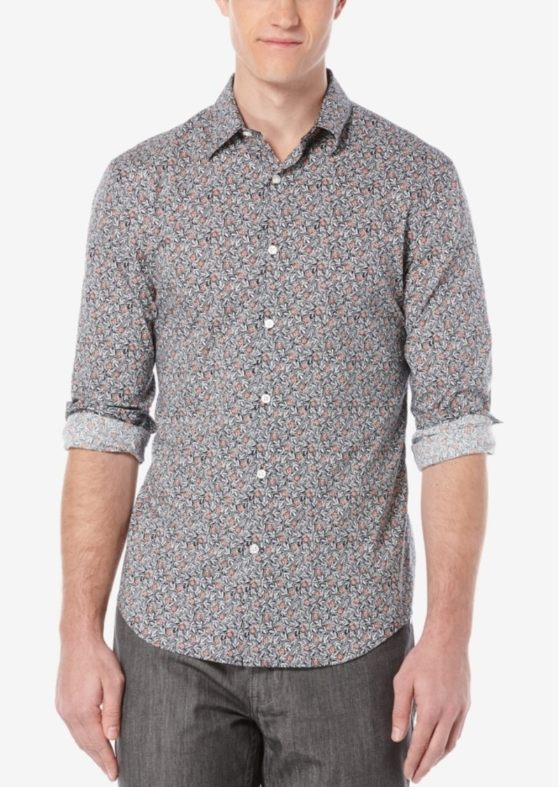 Perry Ellis Men's Floral-Print Long-Sleeve Shirt