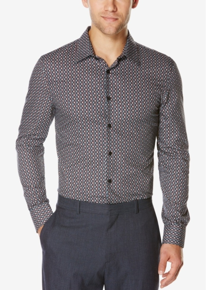 Perry Ellis Men's Foulard-Print Long-Sleeve Shirt
