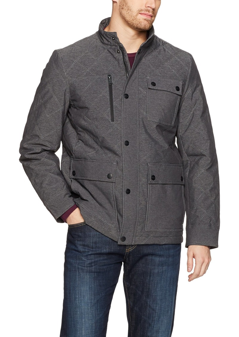 Perry Ellis Men's Four Pocket Diamond Quilted Field Jacket  S