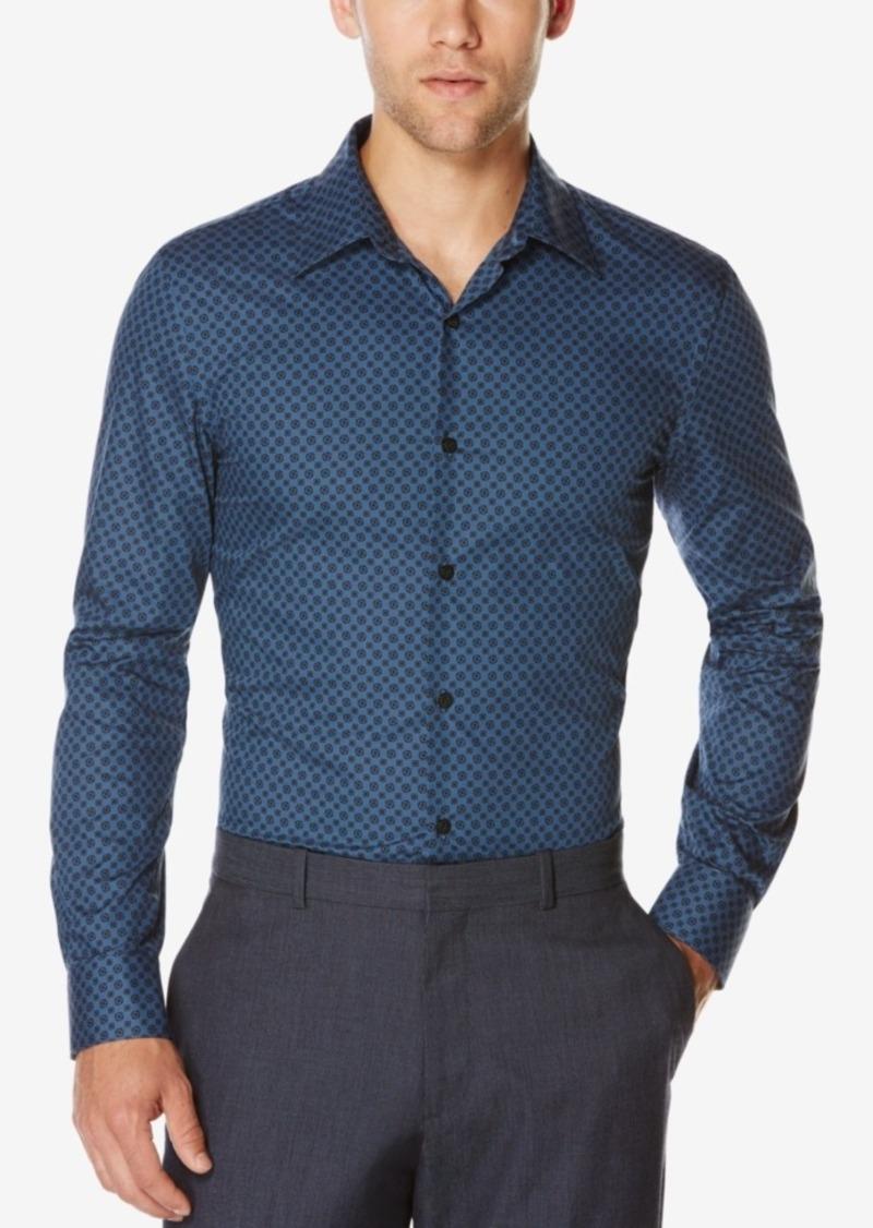 Perry Ellis Men's Geo-Print Long-Sleeve Shirt