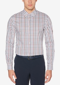 Perry Ellis Men's Grid-Pattern Stretch Classic Fit Shirt