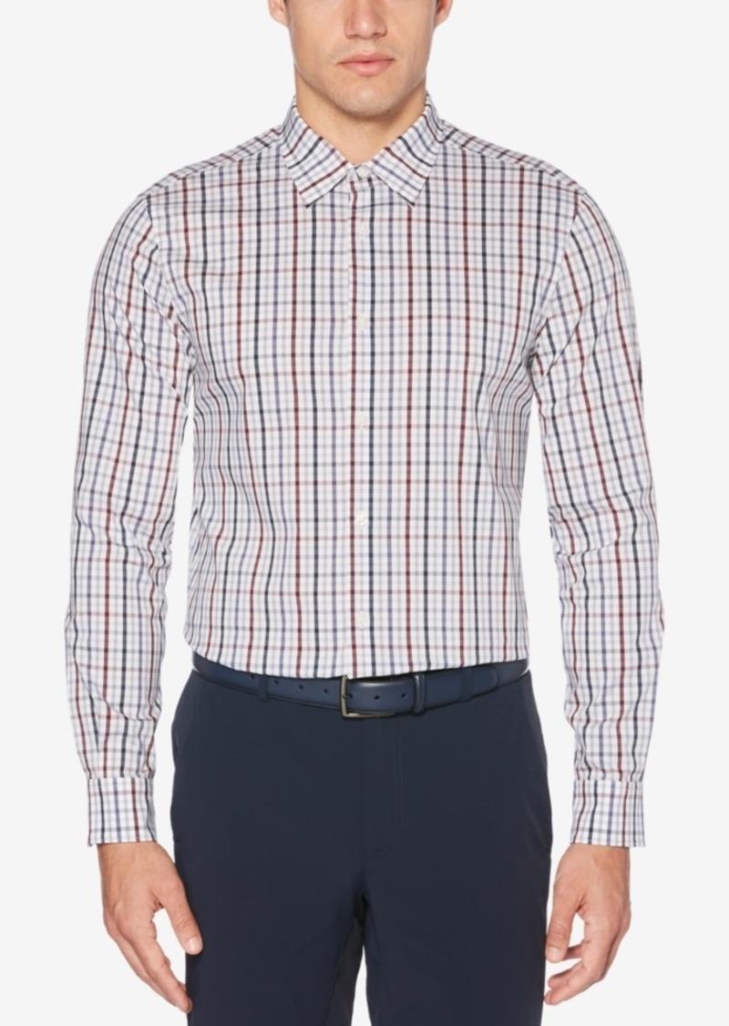 Perry Ellis Men's Grid-Pattern Stretch Classic Fit Shirt