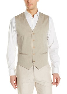 Perry Ellis Men's Heather Twill Stretch Suit Vest  Extra Extra Large