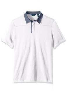 Perry Ellis Men's Heathered Collar Pima Cotton Polo