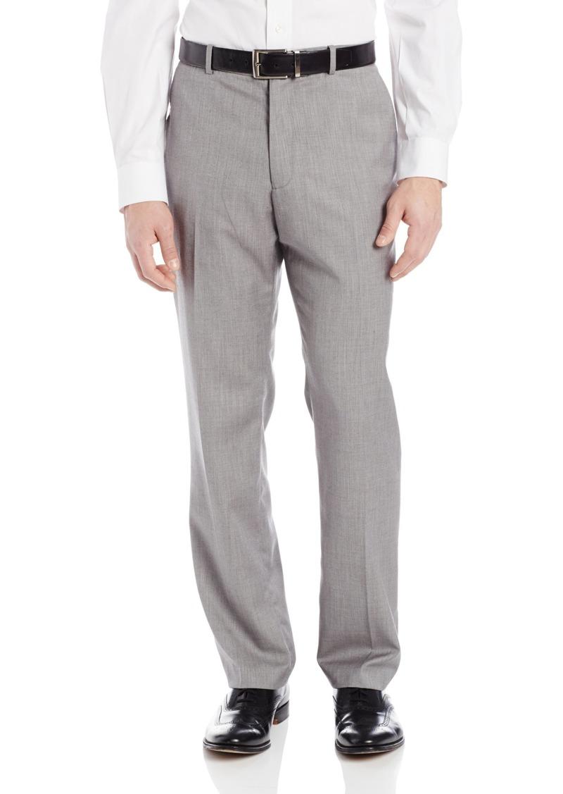 Perry Ellis Men's Herringbone Flat Front Pant  36x34