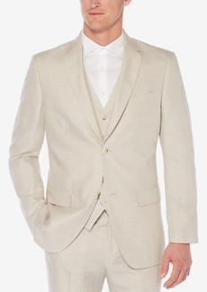 Perry Ellis Men's Herringbone Linen Blazer