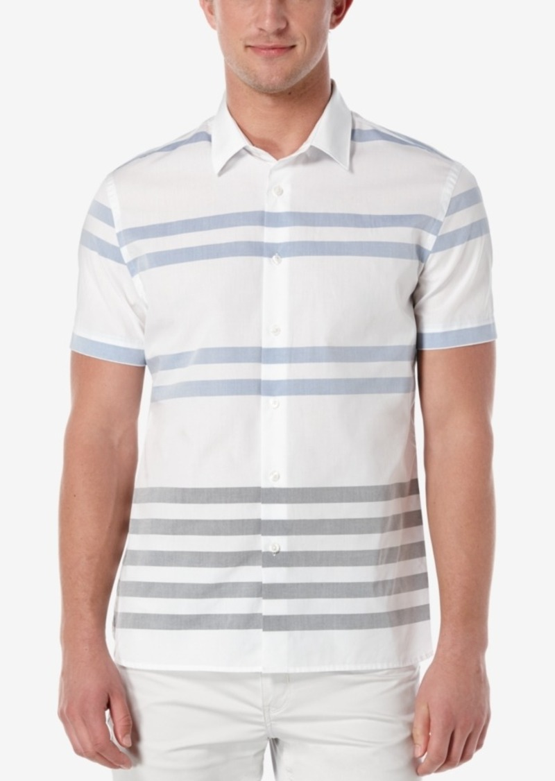 Perry Ellis Men's Horizontal Striped Short-Sleeve Shirt