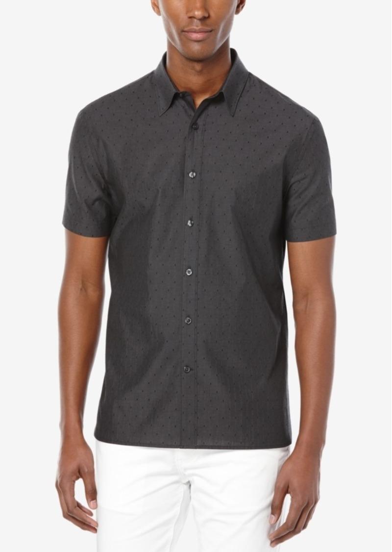 Perry Ellis Men's Iridescent Diamond Jacquard Short-Sleeve Shirt