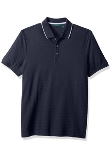 Perry Ellis Men's Jacquard 3 Button Polo