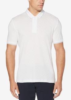 Perry Ellis Men's Jacquard Diamond Polo