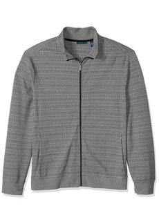 Perry Ellis Men's Jacquard Pattern Full Zip Knit Jacket  Extra Extra Large