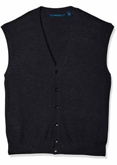 Perry Ellis Men's Jersey Knit Vest Dark Sapphire/DFG Extra Large