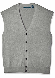 Perry Ellis Men's Jersey Knit Vest Smoke Heather/DFG