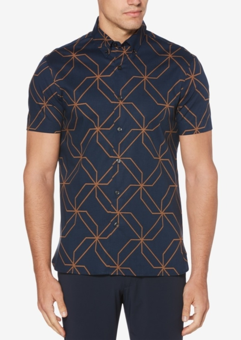 Perry Ellis Men's Kaleidoscope Printed Classic Fit Shirt