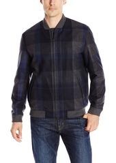 Perry Ellis Men's Large Plaid Wool Jacket  XXL