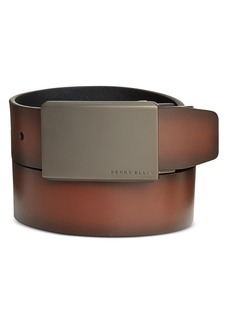 Perry Ellis Portfolio Men's Leather Matte at Me Reversible Belt