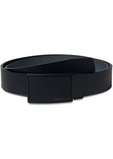 Perry Ellis Portfolio Men's Leather Portfolio Reversible Plaque Belt