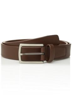 Perry Ellis Men's Leather Tubular Dress Belt brown